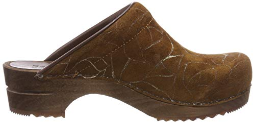Women''s Brown Open Villa Wood Sanita 15 Clogs cognac zdqAtX