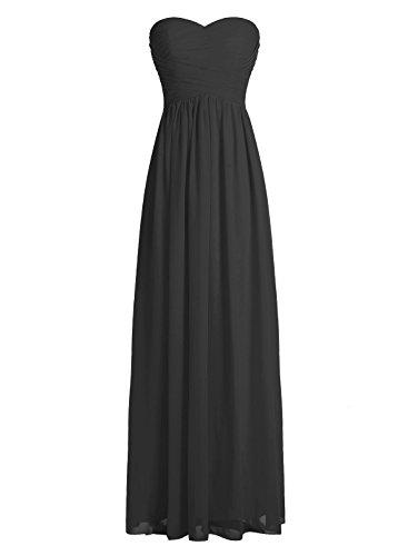 Dressystar Robe de demoiselle d'honneur/de soirée longue formelle Taille 40 Noir