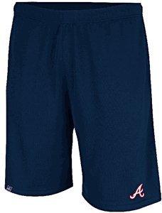 Majestic Atlanta Braves Men's Team Issued MLB Training Shorts by (Small)