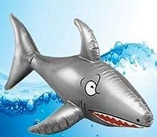 MunchieMoosKids - Tiburón hinchable (90 cm), color multicolor 3 ...