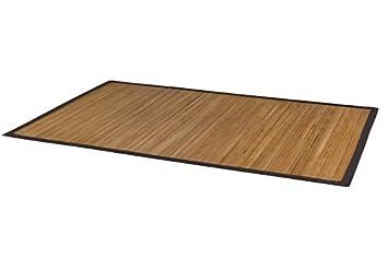 DURABLE Tapis Bambou avec bordure large, NATURAL I fibre naturelle ...