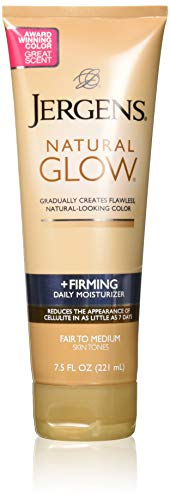 Jergens Natural Glow Firming Moisturizer, Fair to Medium Skin Tones 7.5 Ounces - 2 Pack ()