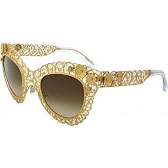 bf9ef2678956 Image Unavailable. Image not available for. Color  Dolce   Gabbana DG2134  Sunglass-02 13 Antique Gold ...