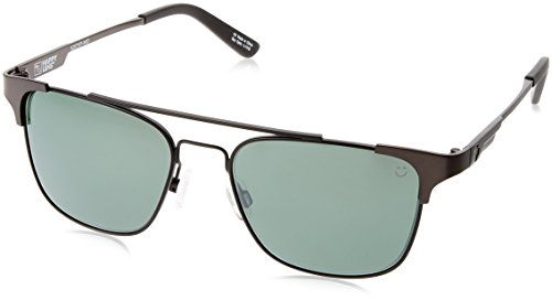 Spy Optic Unisex Westport Matte Gunmetal/Matte Black/Happy Gray Green/Silver Mirror One Size ()