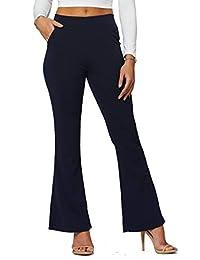 Premium-Vestido para Mujer Pantalones de Slim o Bootcut-Todo el Día Confort en sólidos y Pinstripes por Arrogante