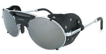 Julbo Drus Gafas de Sol, Plata, Negro Cuero Lado Signos, Gris Polarizado Cat