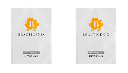 Beautigenix Korean Facial Sheet Mask - Lifting Serum with Regenerative Stem Cell - Firm and Tone for Improvement of Fine Lines and Wrinkles, 2 Masks and Facial Care and Instructional - Regenerative Cell