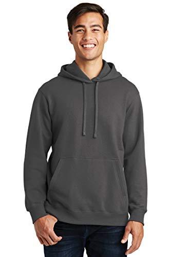 Port & Company Fan Favorite Fleece Pullover Hooded Sweatshirt. PC850H Charcoal XL -