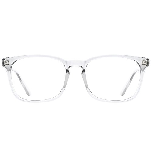 TIJN Blue Light Blocking Glasses Square Nerd Eyeglasses Frame Anti Blue Ray Computer Game ()