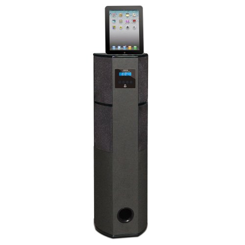 Ipod Speakers Docking Station - Pyle PHBT98PBK Bluetooth 600-Watt 2.1 Channel Home Theater Tower with 30-Pin iPod, iPhone and iPad Docking Station