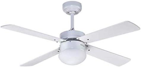 Novedad en ventilador de techo 107 cm TRAMONTANA blanco con luz, Fabrilamp.: Amazon.es: Iluminación