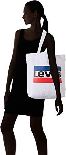 White Tote W Noir playa y de Sportswear Regular Blanco Levi's Bolsas Logo tela 7qZRHHn