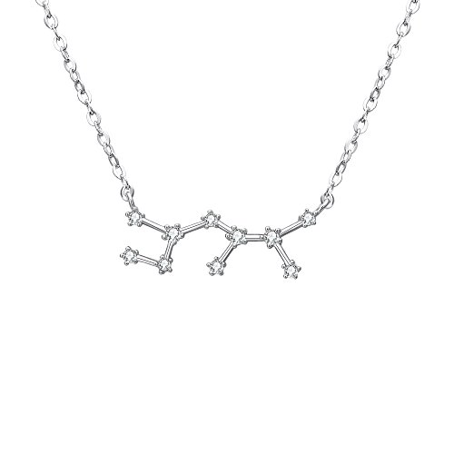 BriLove 925 Sterling Silver Necklace Sagittarius Constellation Zodiac 12 Horoscope Astrology Women CZ