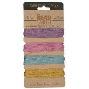 Pastel Colors App 30 Feet 42561 Hemp Twine Bead Cord 1.0mm
