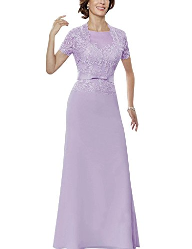 H.S.D Lace Applique Mother Of The Bride Formal Dresses With Short Sleeves Jacket