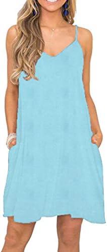 Akihoo Women Summer Casual Sleeveless Mini Plain Pleated Tank Vest Dresses