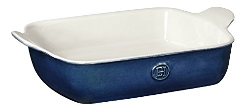 Emile Henry 559628 HR Ceramic Small Rectangular Baker, Twilight (Blue Rectangular Baker)