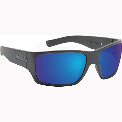 Hoven Times Adult Polarized Sunglasses, Black On Black/Tahoe Blue, One - Hoven Sun Glasses