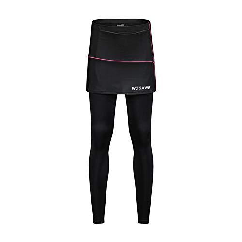 LLXNNレディース サイクリング レーサーパンツ レーススカート 通気 快適 吸汗速乾 通気 快適 痛み軽減 自転車 春夏用 S-XL