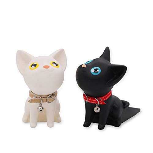 (2PC Cute Cat Door Stopper/Fashion Silicone Decorative Stop Anti-Pinch Wedge Finger Protector for All Doors Behind The Window Without Scratches Strong Grip)