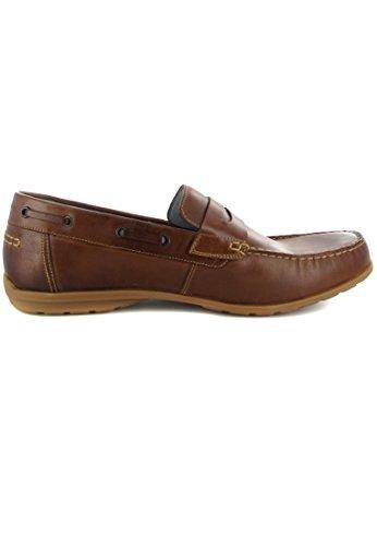 FRETZ men - Mocasines de Piel para hombre Marrón marrón