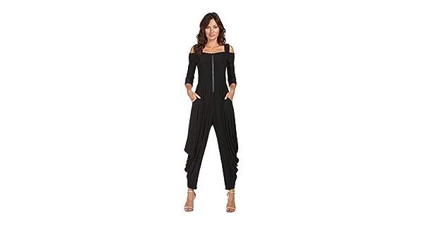 24f5fce2bd8 Amazon.com  Frank Lyman Black Jumpsuit - Style 176080 Fall Winter 2018   Clothing