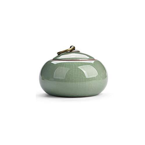 HENGTONGTONGXUN Ceramic Jar, Ge Kiln Ceramic Urn, Sealed Can, Purple Sand Ceramic Can Urn, Ceramic Urn, Urn, Pet Can, Ceramic Urn, Sealed Ceramic Pet Coffin, Pet Coffin, Souvenir, Pet Commemorative Bo