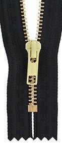 #6 Closed End Zipper 8in Black ()