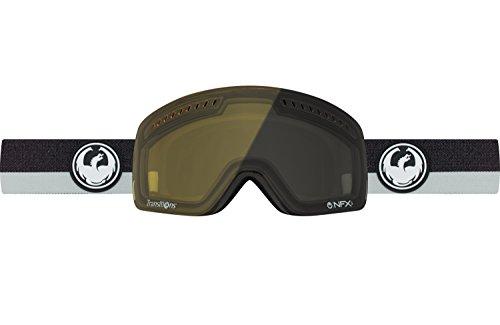 Dragon Alliance NFXS Flux Grey Transition Ski Goggles, Black