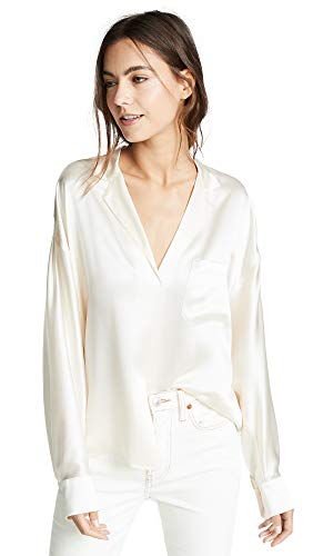 Vince Women's Pajama Popover, Chiffon, Off White, Small from Vince