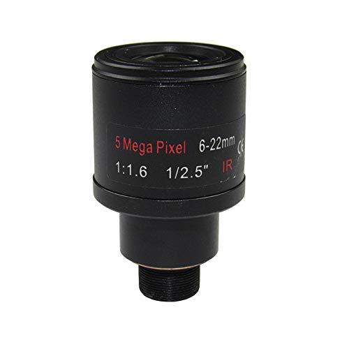 1/2.5 5.0Megapixel F1.6 M12 Mount Varifocal 6-22mm M12 CCTV IP Camera Lens