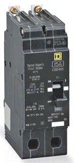 SCHNEIDER ELECTRIC 480Y/277-VOLT 25-AMP EDB24025 Miniature Circuit Breaker 480Y/277V 25A
