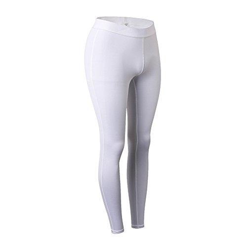 Yiitay Donna Leggings Sportivi Pantaloni Yoga Running Trousers(Bianco,L)