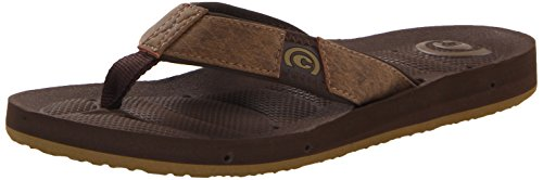 Cobian Men's Lone star Flip Flop,Chocolate,11 M