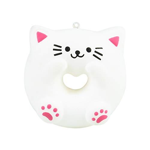 NIUQI Lovely Cat Doughnut Cream Scented Slow Rising Stress Adorable Toys -