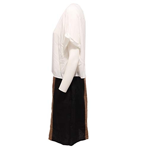 Armani Brown 2547x Woman Donna Abito Linen Mehrfarbig Jeans Dress black FRrwrnq