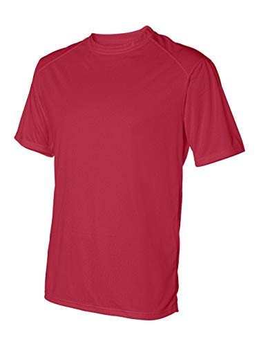 Badger Sportswear Men's B-Dry Tee, Red, - Badger T-shirt Sleeve Short