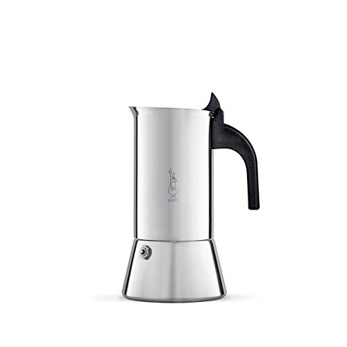 (Bialetti Venus - Stove Top Espresso Maker - Stainless Steel with Black Insulated Handle - 6 Cups)