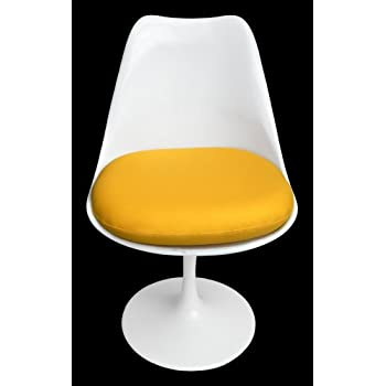 Premium Replacement Cushion For Saarinen Tulip Side Chair   Yellow