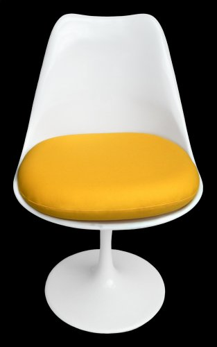 Premium Replacement Cushion for Saarinen Tulip Side Chair - Yellow