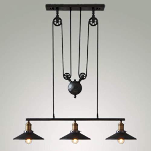 (ChuanHan Pendant Lighting Fixture Pendant Lamps Retro Pendant Light Adjustable Height Pulldown Islpendant Light Ceiling Lamp Retro Industrial, 3)