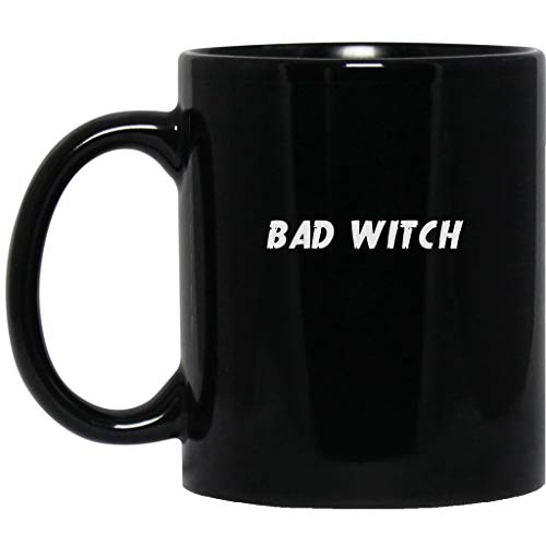 Bad Witch Good Witch Best Friend Halloween Party Duo Couple Funny Gifts Black Mug -