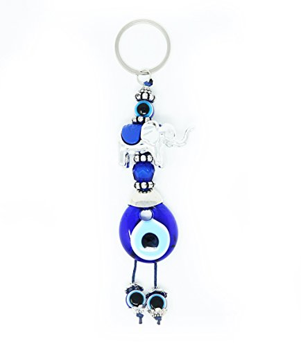 Evil Eye Keychain Set Women & Men Turkish Greek Key Rings Protection Lucky Charm - Eye Good Luck Charm Keychain