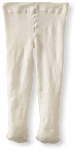 Jefferies Socks Baby-Girls Infant Pima Tight, Ivory, 0-6 -
