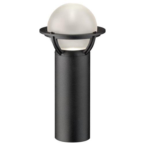 Intermatic CL0811 Malibu Low Voltage 20-Watt Halogen Metal Nautical Bollard Garden Light, Textured Black with Frosted Glass ()