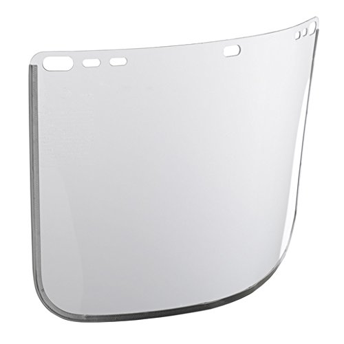 Kimberly-Clark Jackson Safety Model F30 8'' X 12'' X .04'' Clear Aluminum Bound Acetate Faceshield For Use With Headgear