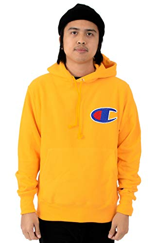 Champion Life Men's Reverse Weave Pullover Hoodie (Small, Gold/Chainstitch C Logo) ()
