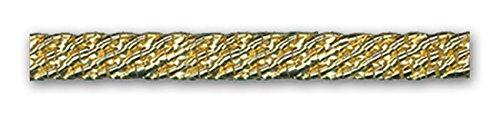 GOLD METALLIC 1/4 INCH FILE BRAID 24 Yards - Gold Metallic Braid