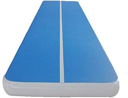 体操用マット Airtrack体操マットインフレータブルポンプとGYMマットジムマットタンブリングチアリーディングパッド 体操トレーニング用マット (色 : 青, Size : One size)
