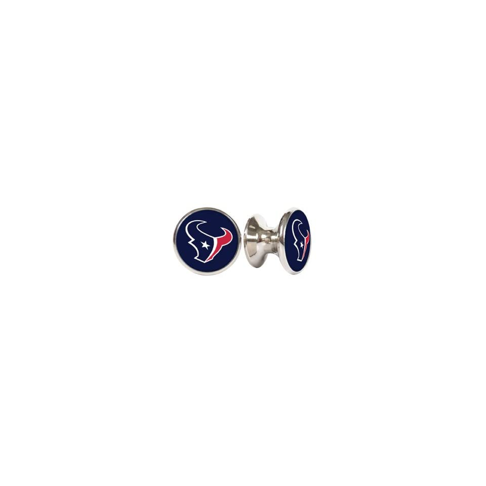 Houston Texas NFL Stainless Steel Cabinet Knobs / Drawer Pulls (2 pack)